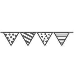 garlands party celebration icon vector image
