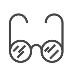 glasses thin line icon vector image