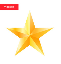 golden star high quality 3d star symbol vector image vector image
