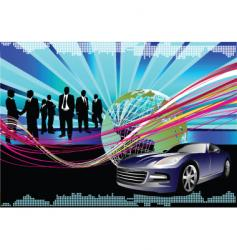 hi tech background vector image vector image