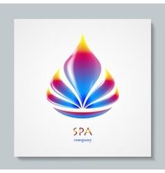 Luxury image logo Rainbow Flower Business design vector image vector image