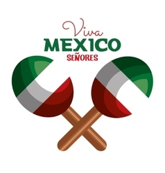 maracas flag mexico icon design vector image