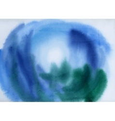 Blue watercolor background for texture and vector image vector image