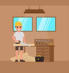 carpenter foreman carpenter carpenter with a vector image