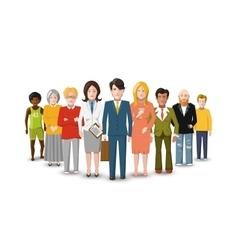 International group of people flat vector image