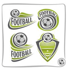 logo football ball vector image vector image