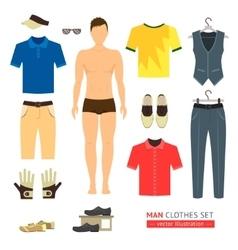 Man or Boy Clothes Set vector image vector image