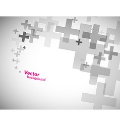 Abstract background created with plus sign vector image vector image