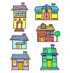 art of house colorful set vector image vector image