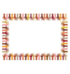 colorful frame up hands vector image vector image