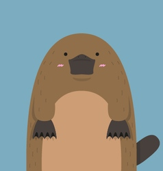 cute big fat platypus vector image vector image