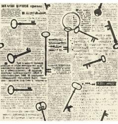 Imitation of newspaper with keys vector image