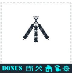 Kebab icon flat vector image vector image