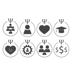 Set of psychology symbols vector