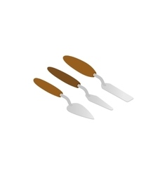 Spatulas for painting icon isometric 3d style vector image vector image