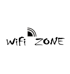 wifi zone connection vector image vector image