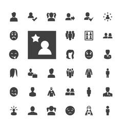 33 avatar icons vector