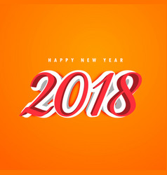 3d new year 2018 creative text design vector image