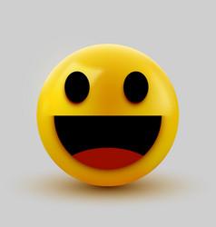 3d smiling ball sign emoticon icon design vector