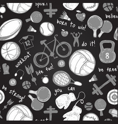 a sport icon sketch pattern hand drawn vector image