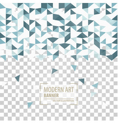 Abstract triangle background 3d triangles modern vector