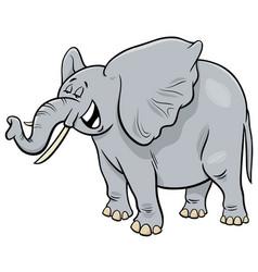 African gray elephant animal cartoon character vector