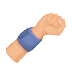 arm with bandagebasketball single icon in cartoon vector image