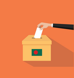 Bangladesh vote election concept with vector