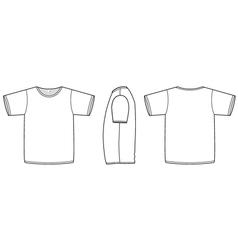 basic unisex tshirt template vector image