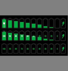 battery indicator set vector image