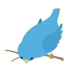 Bend down blue bird vector