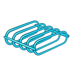 Bicycle rack icon cartoon style vector