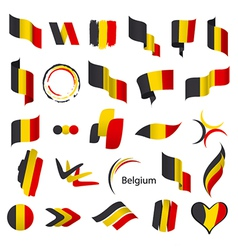 biggest collection of flags of Belgium vector image