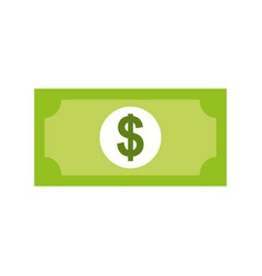 Bill money dollar icon vector
