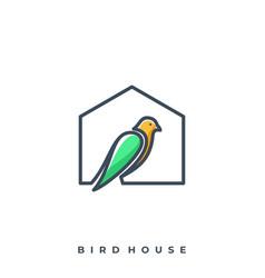bird house template vector image