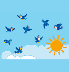 birds on the sky vector image
