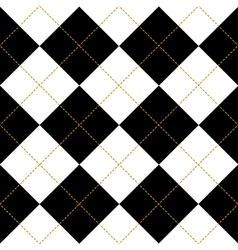 Black Royal White Diamond Background vector image