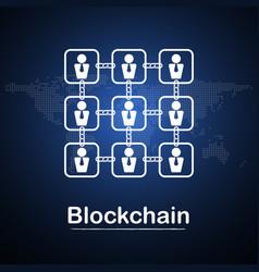 Blockchain technology businessman fintech vector