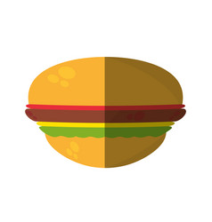burger fast food shadow vector image