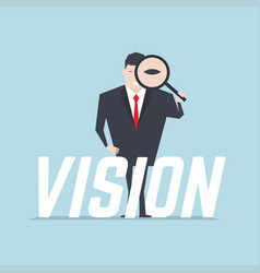 businessman with vision text vector image