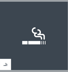 cigarette related glyph icon vector image