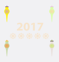 Collection of icicle christmas toy vector