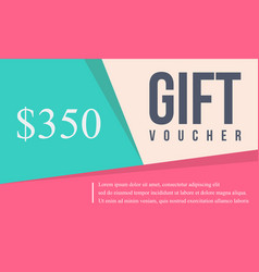 Collection stock card gift voucher vector