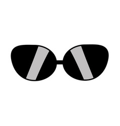 cute sunglasses fashion style design vector image
