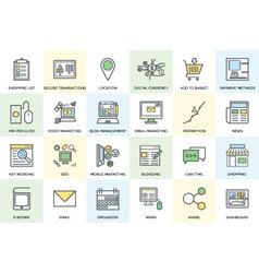 Digital Marketing Bold Icons 1 vector