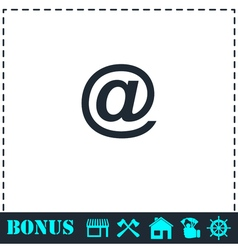 E-mail icon flat vector
