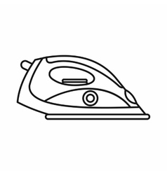 Electrical iron icon outline style vector