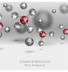 Ethane Molecules Background vector