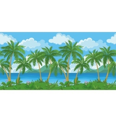 Exotic seamless tropical sea landscape vector image