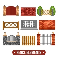Fence Design Elements Set vector